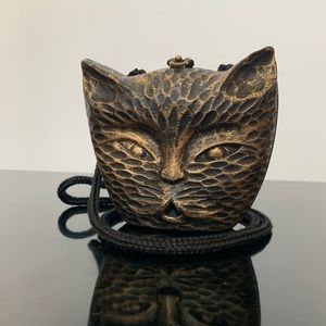 Timmy Woods Wooden Cat Clutch